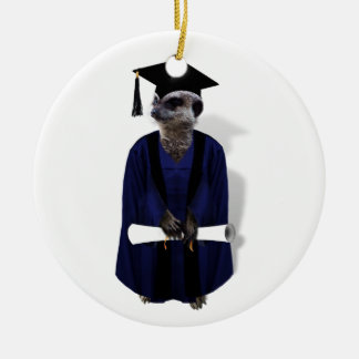 Meerkat Graduate  Keepsake Christmas Ornament