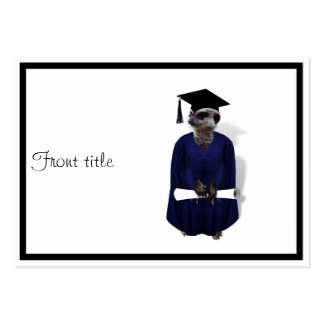 Meerkat Graduate W/ Blue Gown & Diploma Pack Of Chubby Business Cards