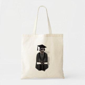 Meerkat Graduate W/Grey Gown & Black Sash Tote Bags