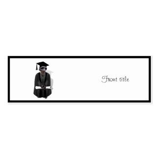 Meerkat Graduate W/Grey Gown & Black Sash Pack Of Skinny Business Cards