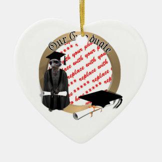 Meerkat Graduate W/Grey Gown & Black Sash Ornaments