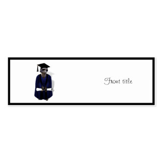 Meerkat Graduate (with Blue Gown w/Black Sash) Pack Of Skinny Business Cards