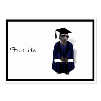 Meerkat Graduate (with Blue Gown w/Black Sash) Pack Of Chubby Business Cards
