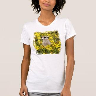 MEERKAT HIDING IN THE FLOWERS T-Shirt