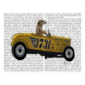Meerkat in Hot Rod 2 Postcard
