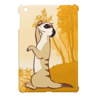 Meerkat  in the countryside iPad mini case