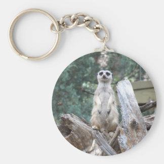 Meerkat Keyring Basic Round Button Key Ring
