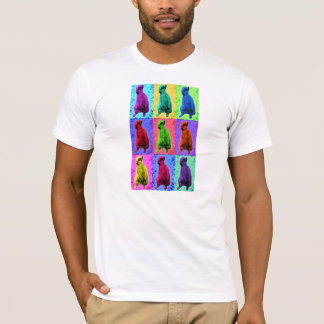 Meerkat Looking Up Pop Art Popart Multi-Panel T-Shirt