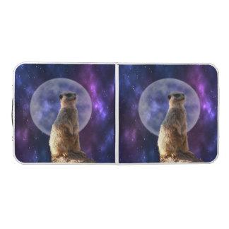 Meerkat Moonlight, Folding Aluminum Table. Beer Pong Table