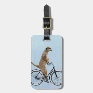 Meerkat on Bicycle 2 Luggage Tag