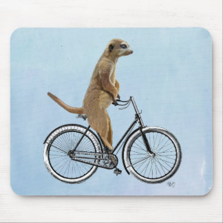 Meerkat on Bicycle 2 Mouse Mat