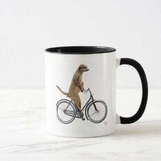 Meerkat on Bicycle Mug