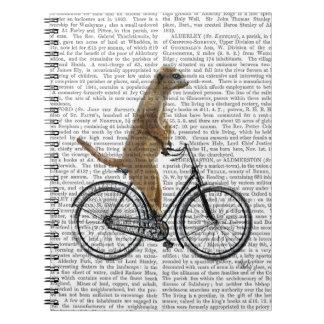 Meerkat on Bicycle Spiral Notebook