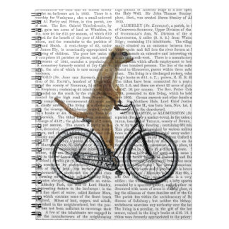Meerkat on Bicycle Spiral Notebooks