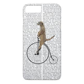 Meerkat on Black Penny Farthing iPhone 8 Plus/7 Plus Case