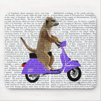 Meerkat on Lilac Moped Mouse Mat