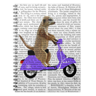 Meerkat on Lilac Moped Notebooks