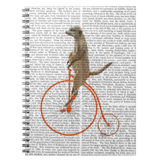 Meerkat on Orange Penny Farthing Notebooks