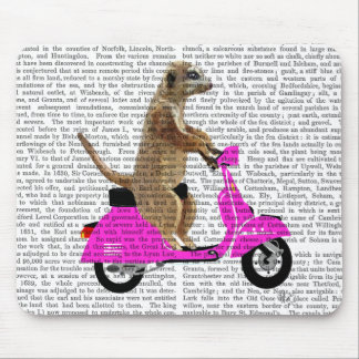Meerkat on Pink Moped Mouse Mat