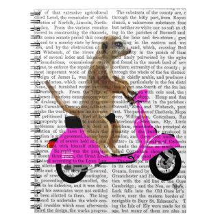 Meerkat on Pink Moped Notebooks