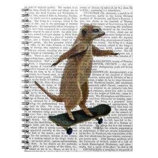 Meerkat On Skateboard 2 Spiral Notebook