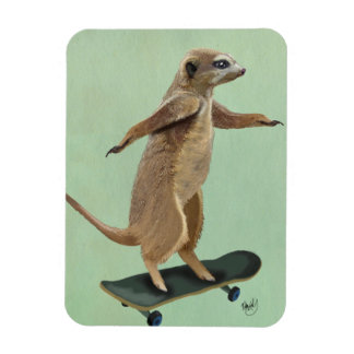 Meerkat On Skateboard 3 Magnet