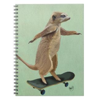 Meerkat On Skateboard 3 Notebooks