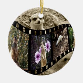 Meerkat Photo Strip, Ceramic Ornament