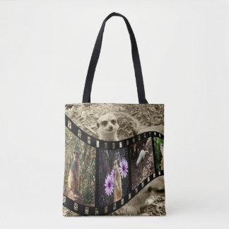 Meerkat Photo Strip, Full Print Shopping Bag. Tote Bag