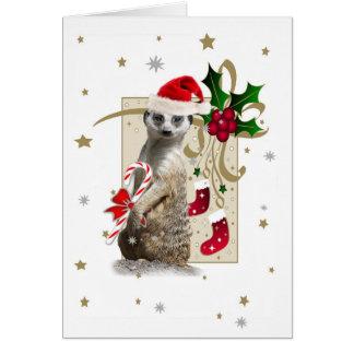 Meerkat Santa CARD