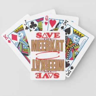 Meerkat Save Bicycle Playing Cards