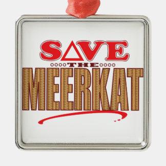 Meerkat Save Christmas Ornament