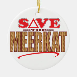 Meerkat Save Christmas Ornament