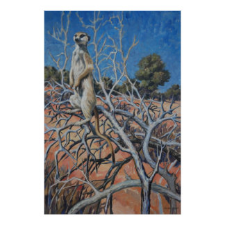 Meerkat sentinel - Art print