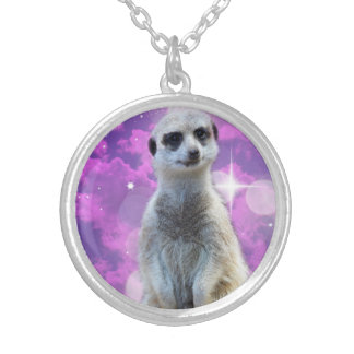 Meerkat_Silver-Tone_Pendant_Necklace Silver Plated Necklace