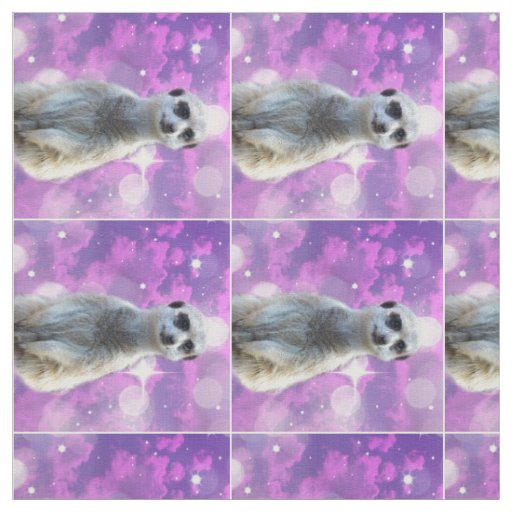 Meerkat Sparkle Combed Cotton Material. Fabric