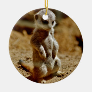 Meerkat Style Christmas Ornament