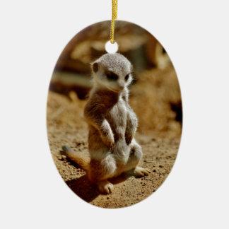 Meerkat Style Christmas Ornament