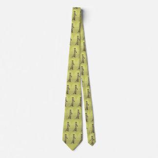 meerkat tie double sided print