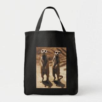Meerkat totebag grocery tote bag
