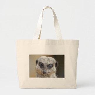Meerkat Up Close Large Tote Bag