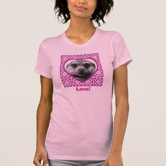 Meerkat Valentine Heart Ladies T-Shirt