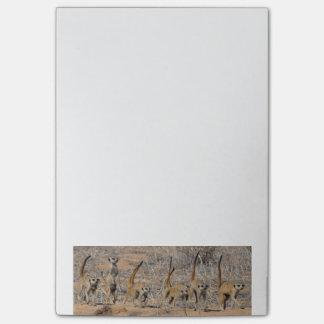 Meerkat wardance - Post-it notes