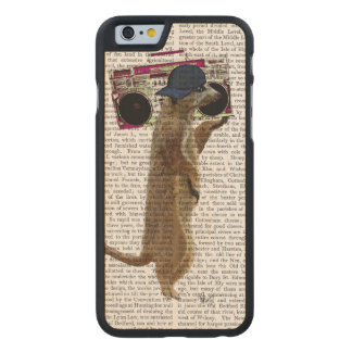 Meerkat with Boom Box Ghetto Blaster 2 Carved® Maple iPhone 6 Case
