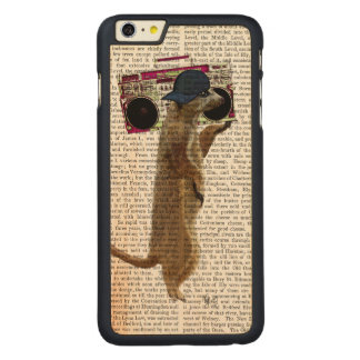 Meerkat with Boom Box Ghetto Blaster 2 Carved® Maple iPhone 6 Plus Case