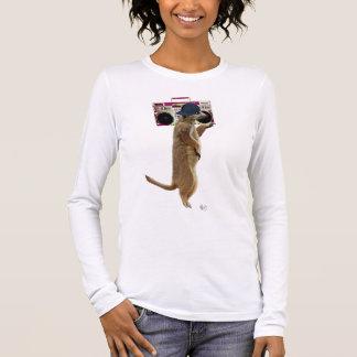 Meerkat with Boom Box Ghetto Blaster 2 Long Sleeve T-Shirt