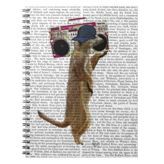 Meerkat with Boom Box Ghetto Blaster 2 Spiral Notebook