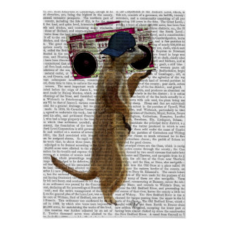 Meerkat with Boom Box Ghetto Blaster Poster
