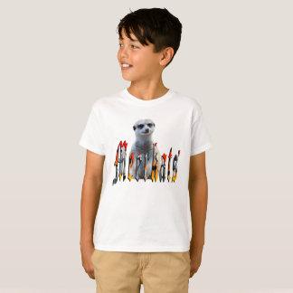 Meerkat With Meerkats Logo, Boys White Tee