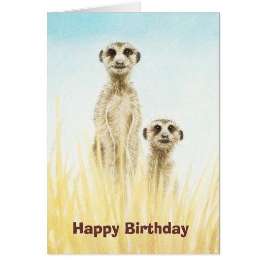 Meerkats Birthday Card Zazzle